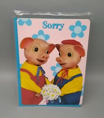 £2.75 • Buy Pinky & Perky ~  Sorry  Greeting Card With Blue Envelope~Just Entertainment Ltd