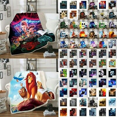 Lion King Clown Sonic Grinch Spider Man Blanket Winter Sofa Throws Xmas Gifts • 27.49£