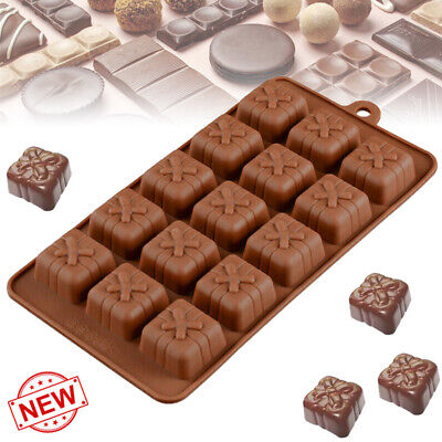 3d Silicone Mold Christmas Gift Box Present Mould Soap Wax Melt Chocolate • 2.69£