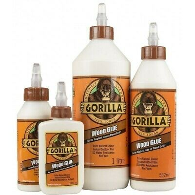 Gorilla Wood Glue PVA Adhesive Water Resistance Extra Strong Durable DIY Repair • 5.39£