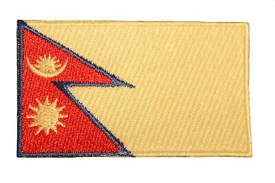 NEPAL Country Flag Iron On PATCH CREST BADGE ..Size : 1.5  X 2.5  Inch • 1.69£