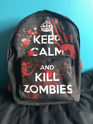 £17 • Buy 'Keep Calm And Kill Zombies' Darkside Backpack/Rucksack