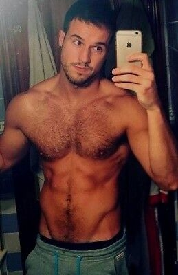 $ CDN4.22 • Buy Shirtless Muscular Male Hairy Chest Abs Fit Athletic Dude PHOTO 4X6 F897