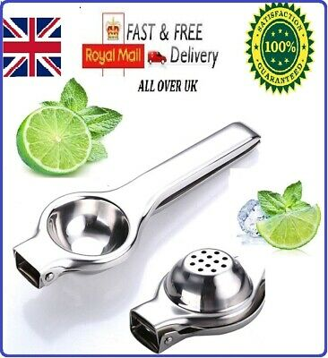Lemon Lime Squeezer Juicer Stainless Steel Professional Manual Hand Press Tool • 5.79£