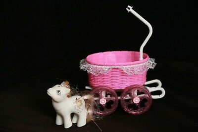 My Little Pony 1985 Vintage Princess Baby Buggy Carriage Stroller + PONY • 130.33£