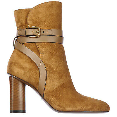 Gucci Heeled Ankle Boots Women 380949 CRP10 2617 Block Heel H 1.96 Inch Shoes • 835£