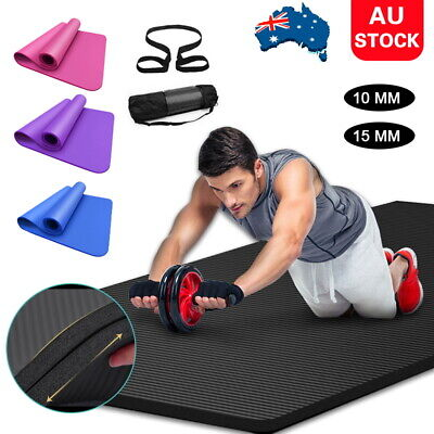 AU24.26 • Buy 15mm Exercise Mat EVA Yoga Mat Non-Slip Gym Fitness Pilates Workouts Durable Pad