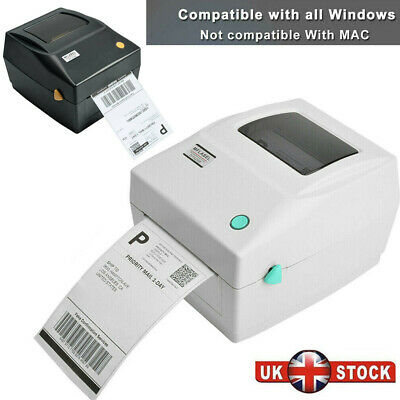 150x100mm 4x6 Direct Thermal Printer Shipping Label Maker USB Barcode Printer UK • 97.91£