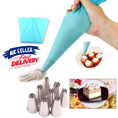 8pcs Big Size Russian Icing Piping Nozzles Tips Cake Pastry Tip Cup Cake Decors • 4.64£
