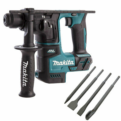 Makita DHR171Z 18V SDS+ Brushless Rotary Hammer Drill With 4 Piece Chisel Set • 111£