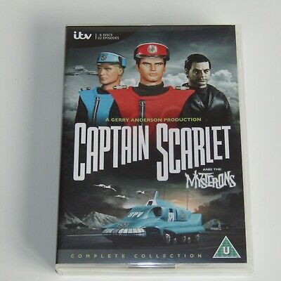 Captain Scarlet And The Mysterons Complete DVD Box Set   32 Episodes On 6 Discs • 18.75£