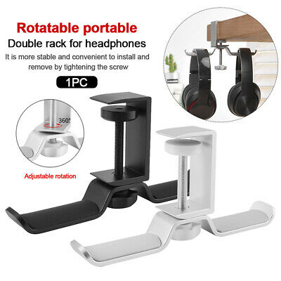 AU21.23 • Buy Headphone Stand Adjustable Clamp Desk Holder Aluminum Alloy Rotatable Hanger