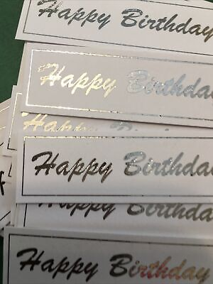 Happy Birthday X 30 Banners/embellishments/captions/toppers Card Making • 3.20£