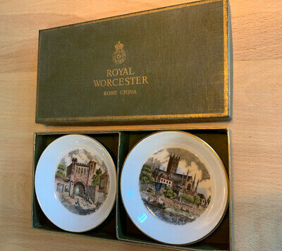 Royal Worcester Pin Dishes Kay & Co Commissioned Worcester Cathedral BOXED • 4.75£