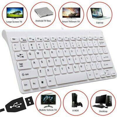 UK For PC Laptop Computer White UK Slim 2.4GHz Wired Keyboard And Mouse Set USB • 11.79£
