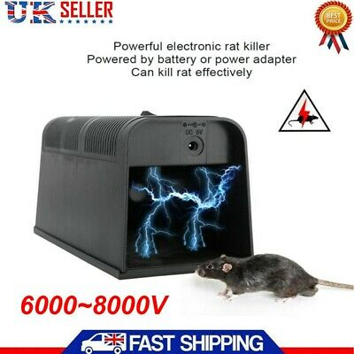 Electronic Rat Trap Victor Control Pest Electric Rodent Zapper Mouse Killer UK • 17.99£