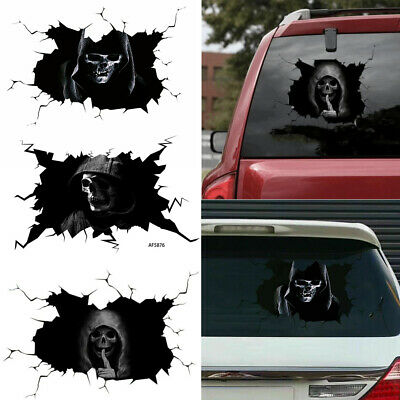 Happy Halloween Stickers Wall Decal Silent Skull Sticker Car Window Sticker • 4.50£