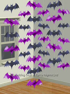 6 X 7ft Vampire Bats Hanging Strings Halloween Window Ceiling Party Decorations • 3.19£