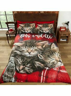 Cuddle Cats Kittens King Size Duvet Cover And Pillowcase Set  • 35.94£
