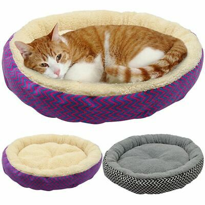 Pet Puppy Cat Bed Striped Soft Dog Kitten House Warm Bed Washable Soft • 9.15£
