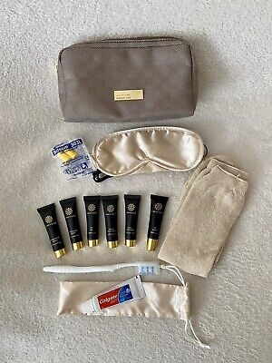 AMOUAGE OMAN AIR In-Flight Toiletry Amenity Kit Bag With Contents Unused • 12.95£