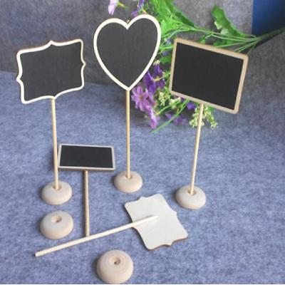 £1.70 • Buy Wooden Mini Blackboard Chalkboard With Stand Place Wedding Table Number Sign SU