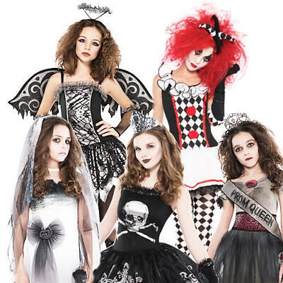 Zombie Bride Age 12-16 Girls Halloween Fancy Dress Teens Horror Kids Costume New • 14.99£