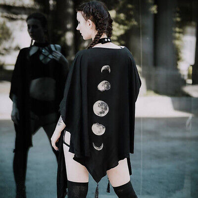 £9.37 • Buy Women Gothic Black Cloak Costume Clothes Lady Punk Shawl Loose Tops Outwear Coat