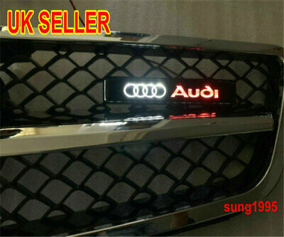 For Audi A6 A7 Q5 Front Grille Illuminated Decal Badge Emblem Logo LED Light Car • 10.99£