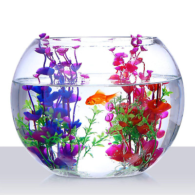 2Pcs Artificial Aquatic Plant Large Aquarium Plants Plastic Fish Tank Decor • 6.39£