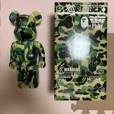 $288.32 • Buy Be@Rbrick Bearbrick Green Camouflage 400% BAPE PLAY CAMO APE