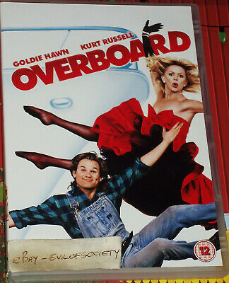 Overboard, Kurt Russell, Goldie Hawn, Comedy, Romance, 1 Dvd, 2011, Vgc • 0.99£