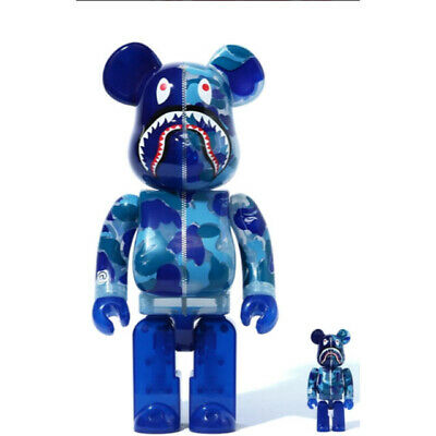 $479.99 • Buy  BE@RBRICK BAPE APE Clear Abc Camo Shark Blue100% & 400% Set MEDICOM TOY
