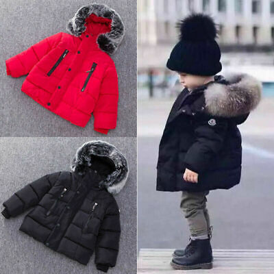 Winter Kids Girls Boys Warm Coat Fashion Parka Outwear Hooded Down Jacket Coats • 17.99£
