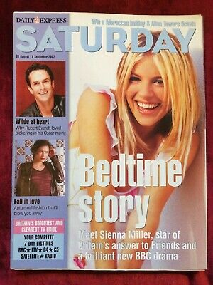 $ CDN25.54 • Buy SATURDAY Magazine 31/08/2002 SIENNA MILLER Samuel West Lisa Riley Rupert Everett
