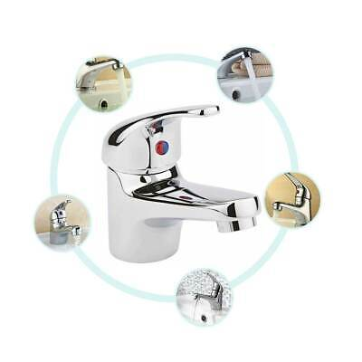 Modern Bathroom Taps Basin Sink Mono Mixer Chrome Cloakroom Tap  With Waste • 11.06£
