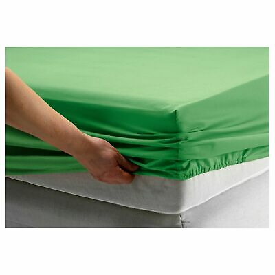 *New* DVALA Fitted Sheet Green 160 X 200 Cm Brand IKEA • 20.99£