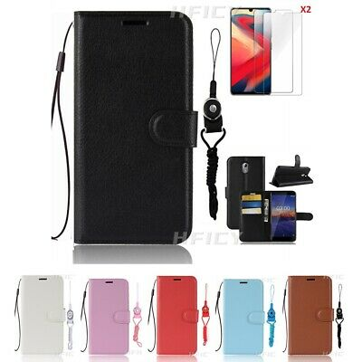 AU10.37 • Buy 5 In 1 Magnetic Leather Wallet Flip Phone Case With 2 Tempered Film & 2 Lanyards