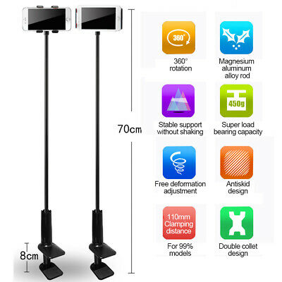 360° Flexible Gooseneck Lazy Bed Clamp Stand Arm Holder Mount For Phone IPad UK • 6.88£