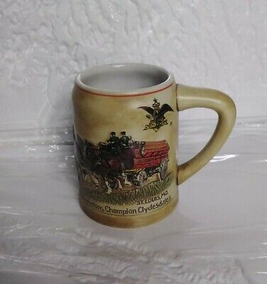 $ CDN64.67 • Buy Vintage Anheuser Busch Budweiser 1980 Holiday Beer Stein 1st In Series CS19