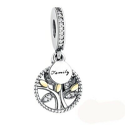 AU15.82 • Buy Authentic Pandora Charms 925 Sterling Silver Family Tree Bead Charms Cubic