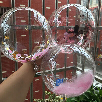 AU18.19 • Buy 50PCS Valentine's Day Birthday Home Round No Wrinkles Transparent Bubble Balloon
