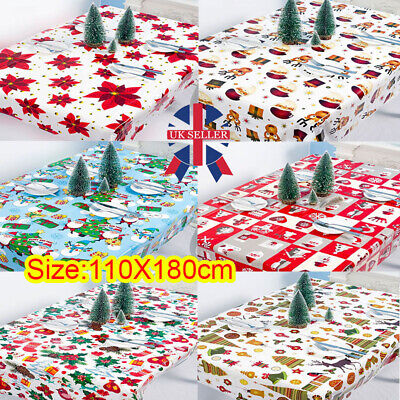 Wipe Clean Tablecloth Pvc Oilcloth Vinyl Wipeable Table Cloth Cover Protector O • 2.89£