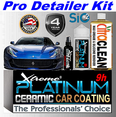 $64.95 • Buy Ceramic Car Coating Kit Nano 9h Scratch Resistant Wet Look High Gloss Protection