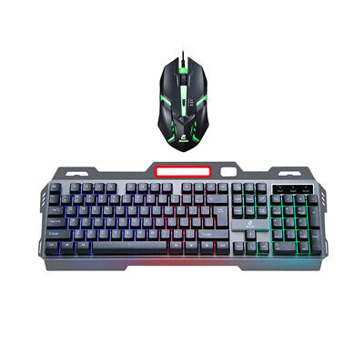 USB Gaming Keyboard And Mouse Set LED Backlit Wired For PC Laptop PS4 Computer • 12.69£