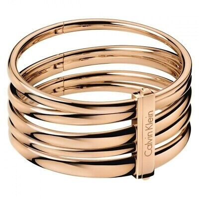 Calvin Klein CK Women's Rose Gold PVD Stainless Steel 'Sumptuous' Bangle • 80£