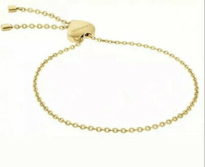 CALVIN KLEIN  Womens Side Bracelet Yellow Gold Pulseria With Heart • 29.99£