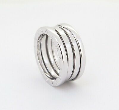 AU1490 • Buy .auth Bvlgari 18k White Gold B Zero 1 3 Tier Dress Ring Size 54