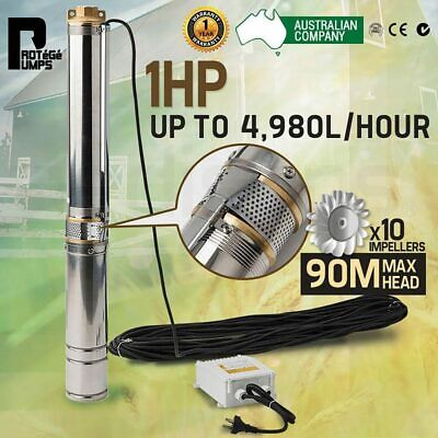AU179 • Buy 1HP Submersible Bore Water Pump Deep Well Irrigation Stainless Steel 240V