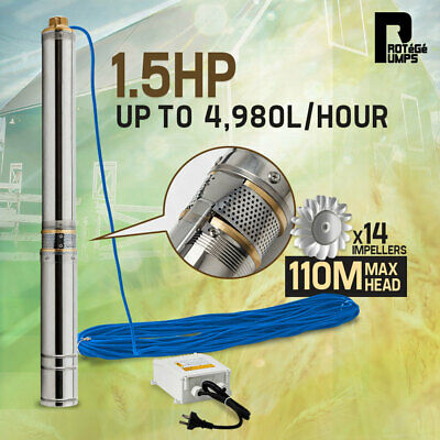 AU349 • Buy 【EXTRA10%OFF】Protege 1.5HP Submersible Bore Water Pump Deep Well Irrigation